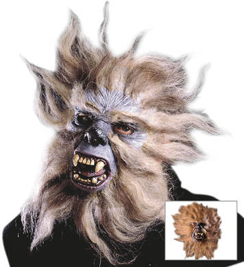 APE HALF MASK WITH HAIR/FUR
