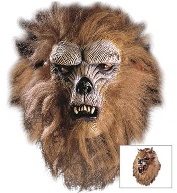 WEREWOLF HALF MASK W HAIR/FUR