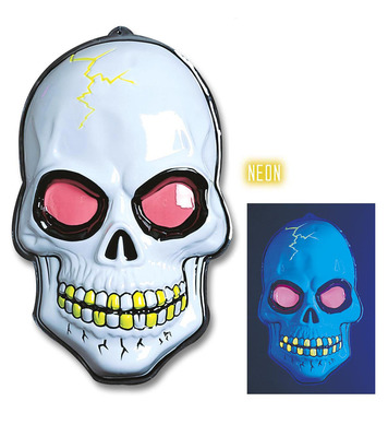 3D NEON SKULL DECORATION 56X38cm