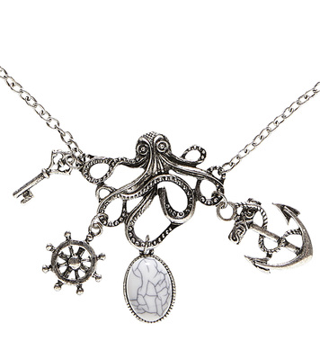 OCTOPUS NECKLACE WITH CHARMS