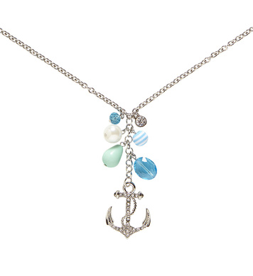 STRASS ANCHOR NECKLACE WITH CHARMS