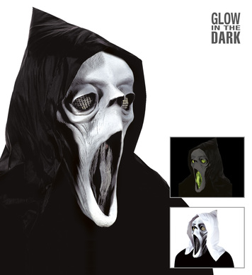 HOODED GHOST MASK GID EYES MOUTH