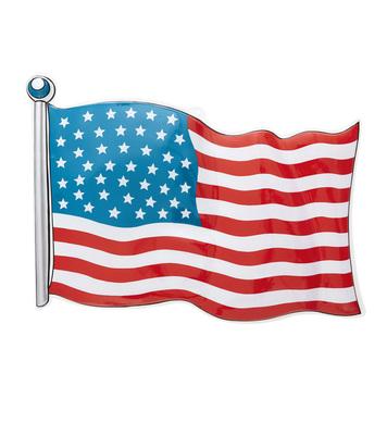USA PVC FLAG 62 x 44cm