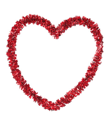 ST. VALENTINE'S DAY EMBOSSED TINSEL HEART 27x27cm
