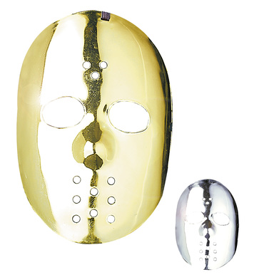 HOCKEY MASK GOLD/SILVER