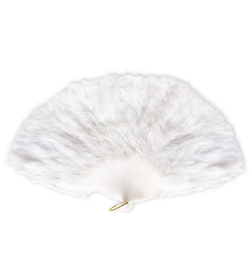FEATHER FAN WHITE