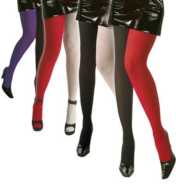 BICOLOUR PANTYHOSE - 3 cols **red/white red/blk purple/blk