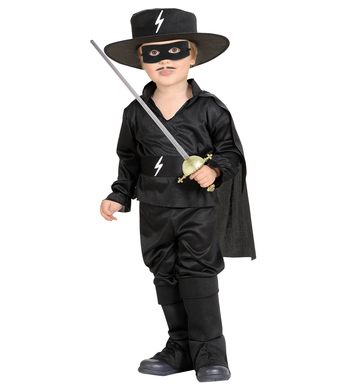 BLACK BANDIT HERO (98cm/104cm) (shirt cape pants hat mask)