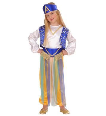 ARAB PRINCESS (1-2yrs/2-3yrs) (shirt vest pants belt hat)