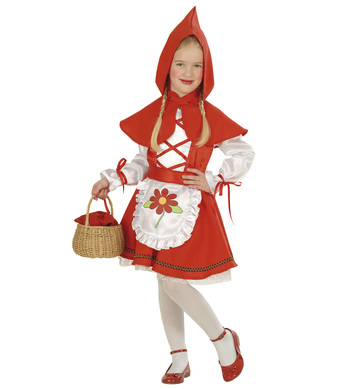 RED CAPELET COSTUME (1-2yrs/2-3yrs) (dress belt capelet)