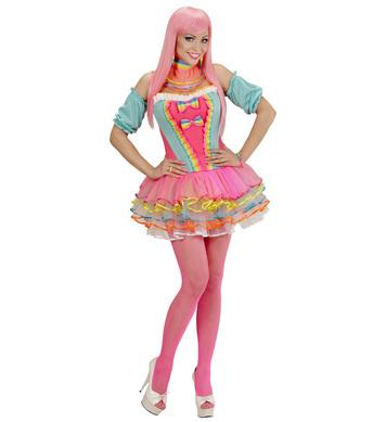 RAINBOW FANTASY GIRL (corset tutu choker cuffs)