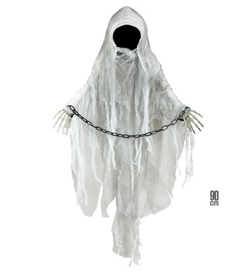 FACELESS GHOST WITH SHACKLES 90cm