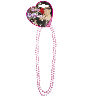 GLAMOUR PEARL NECKLACE - PINK