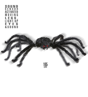 ANIMATED GIANT SPIDER 165cm