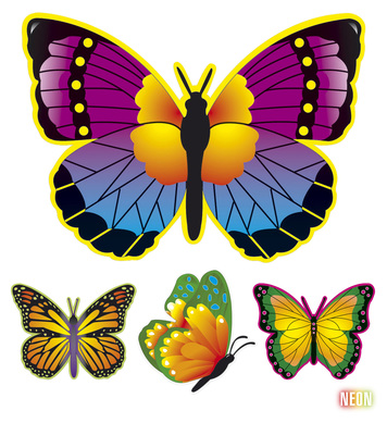 NEON BUTTERFLY DECORATION - 4 styles