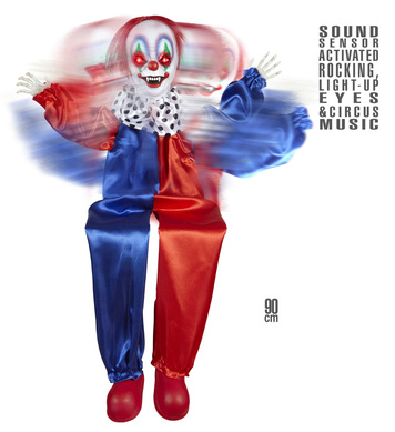 ANIMATED ROCKING KILLER CLOWN 90cm