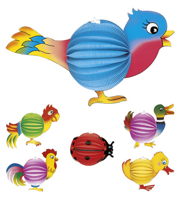 ANIMAL LAMPION - bug/duck/hen/bird/parrot/chick