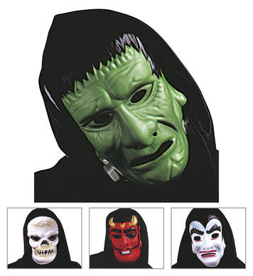 HOODED HORROR MASK - 4 styles