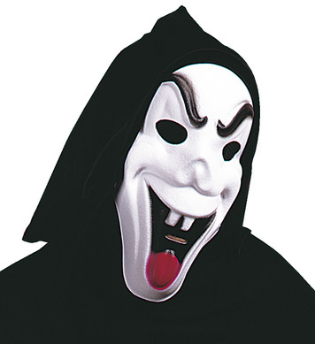 HOODED FUNNY GHOST MASK