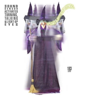 ANIMATED GIANT WITCH 183cm