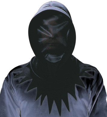 BLACK INVISIBLE FACE HOOD
