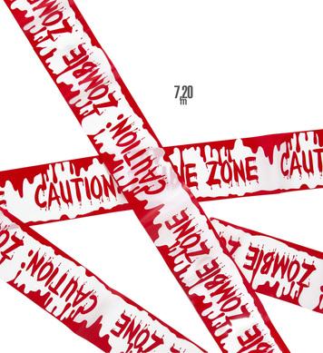 BARRICADE TAPE - CAUTION ZOMBIE ZONE 7.20m