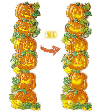 3D VERTICAL PILE OF PUMPKIN DECORATION 132cm