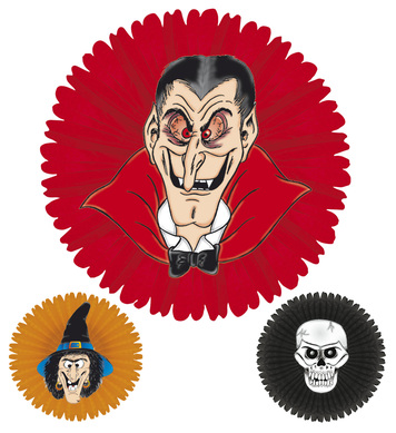 HALLOWEEN PAPER FAN - 3 styles