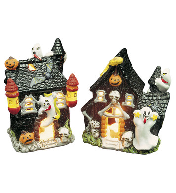 TEALIGHT HOLDER GLITTER HOUSE
