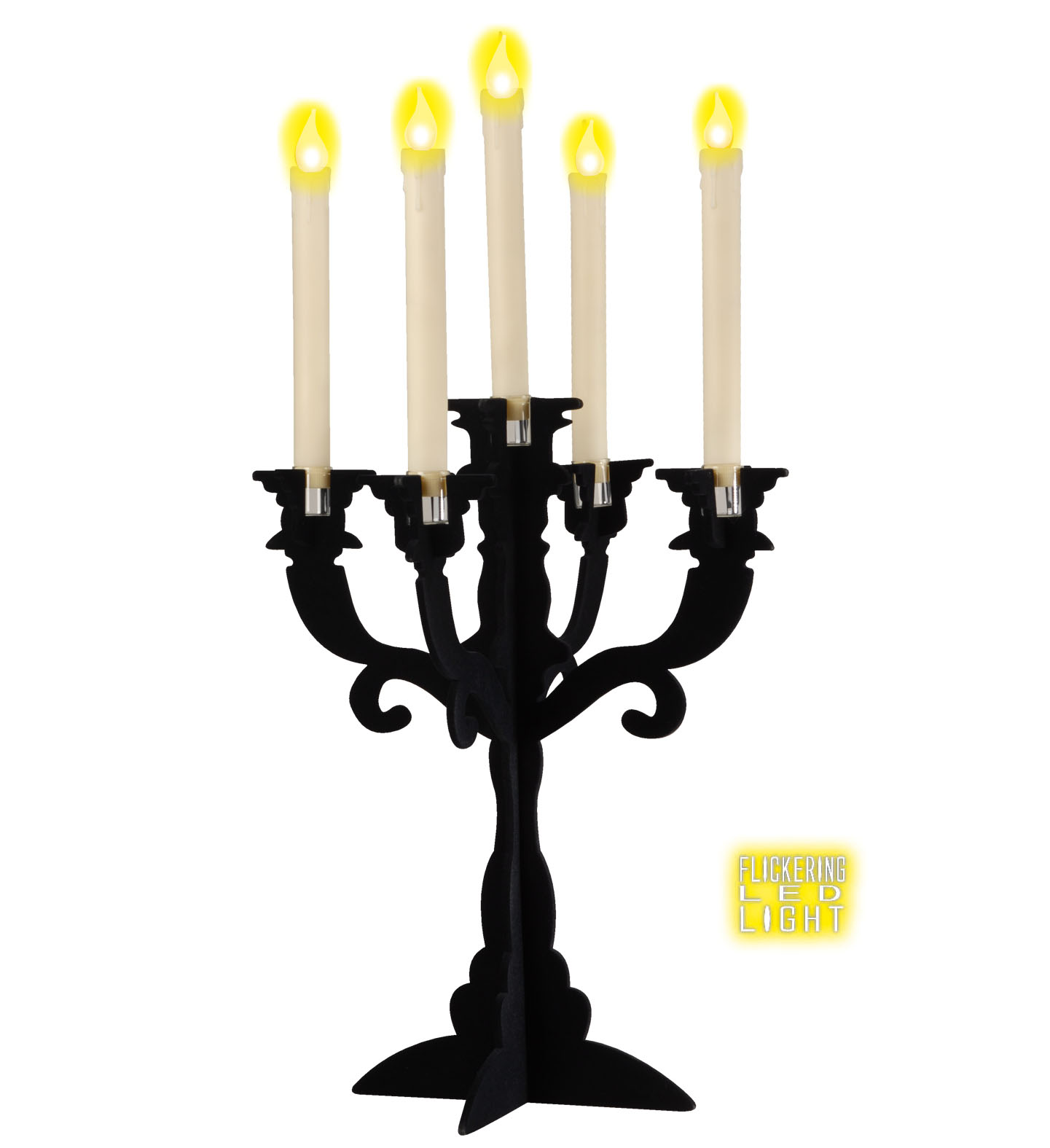 Light Up Candles Black Party Decoration Birthday Cake
