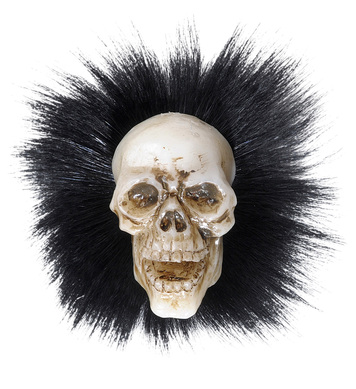 SKULL BROOCHES WITH FEATHERS