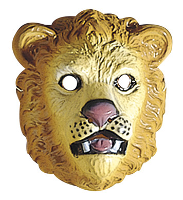 LION MASK PLASTIC - CHILD SIZE