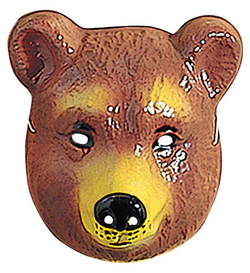 BEAR MASK PLASTIC - CHILD SIZE