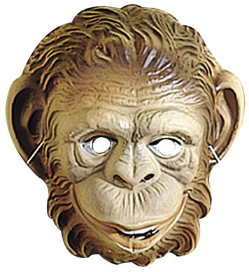 MONKEY MASK PLASTIC - CHILD SIZE