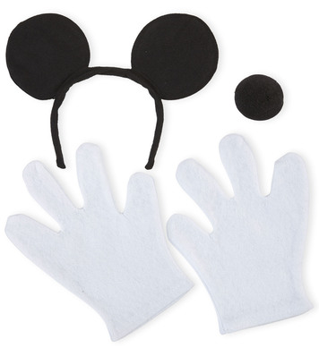 MOUSE SET EARS GLOVES NOSE UNISEX
