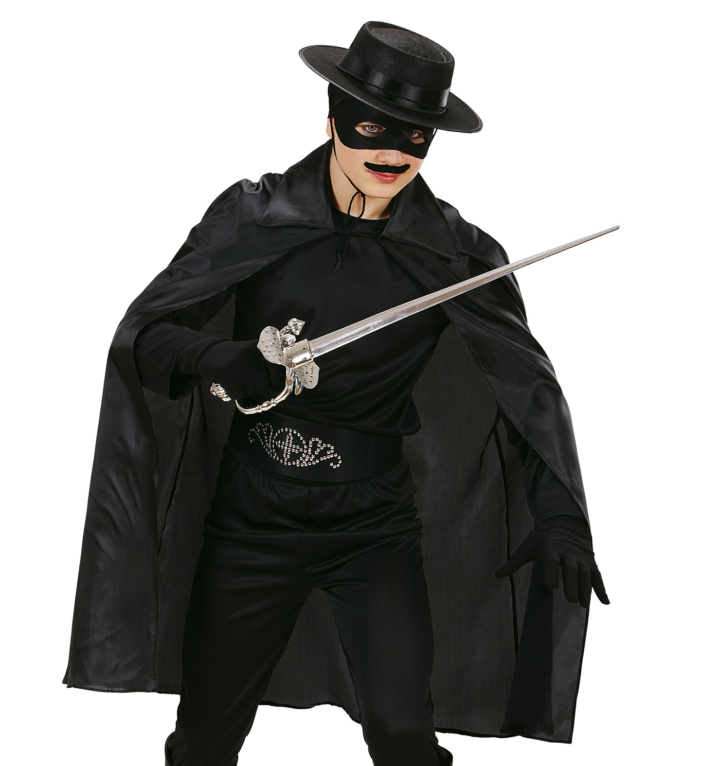 Black Cape Mask Fancy Dress