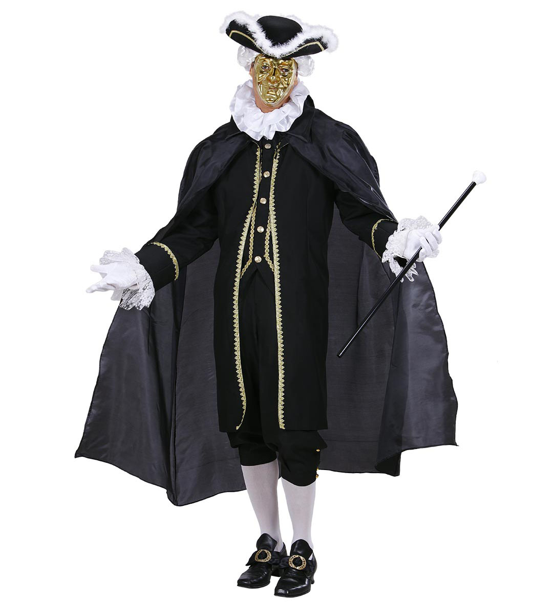 Black Cape Robe Cape Halloween Fancy Dress