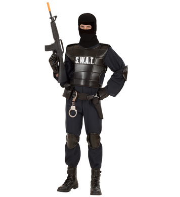 SWAT OFFICER MAN (j-suit vest belt w/holster knee/elb)