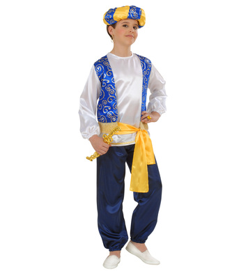 ARAB PRINCE COSTUME (shirt vest pants belt turban) Childrens