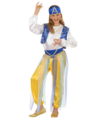 ARAB PRINCESS COSTUME (shirt vest pants belt hat) Childrens