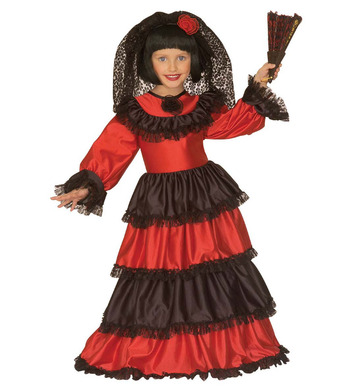 SENORITA GIRL COSTUME (dress w/hoop hat) Childrens