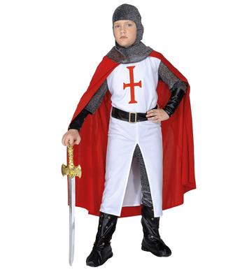 CRUSADER COSTUME (coat pants belt hat cape bcovers) Childrens