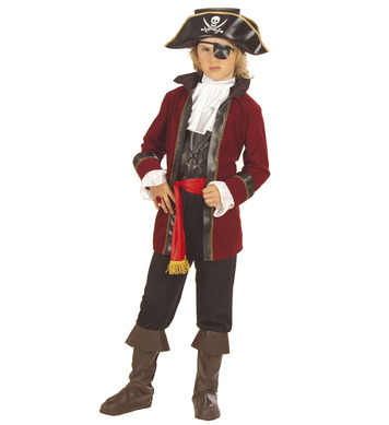 BOOTY ISLAND PIRATE (coat vest pants belt hat pants) Childrens