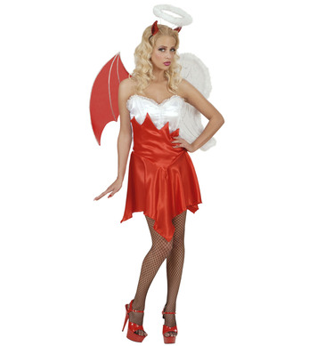 HEAVEN & HELL COSTUME (dress wings headpiece)