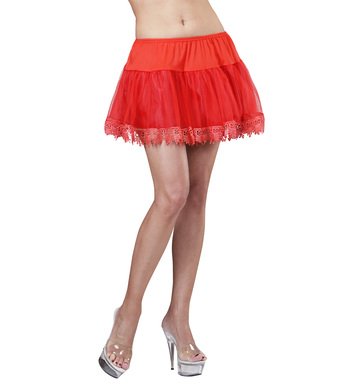 TEARDROP LACE PETTICOAT - RED