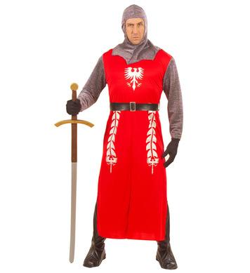 KING ARTHUR COSTUME (long coat belt helmet boot covers)