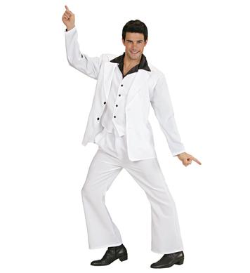DISCO FEVER SUIT WHITE (shirt w/vest jacket pants)