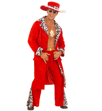 KING OF PIMPS COSTUME VELVET (jacket pants belt hat)