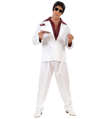 MIAMI GANGSTER COSTUME (shirt jacket pant handkerchief)