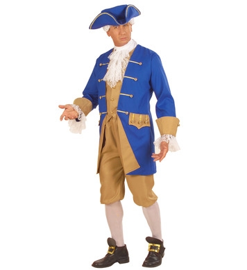COLONIAL MAN (jacket w/vest jabot pants hat shoe buckle)